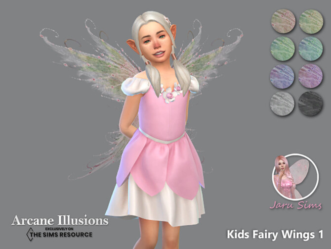 Sims 4 Arcane Illusions   Kids Fairy Wings 1 by Jaru Sims at TSR