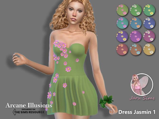Sims 4 Arcane Illusions   Dress Jasmin 1 by Jaru Sims at TSR
