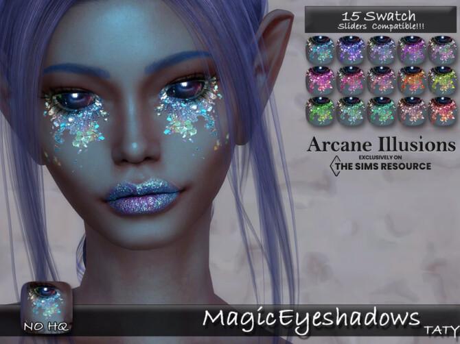 Sims 4 Arcane Illusions Magic Eyeshadow by tatygagg at TSR