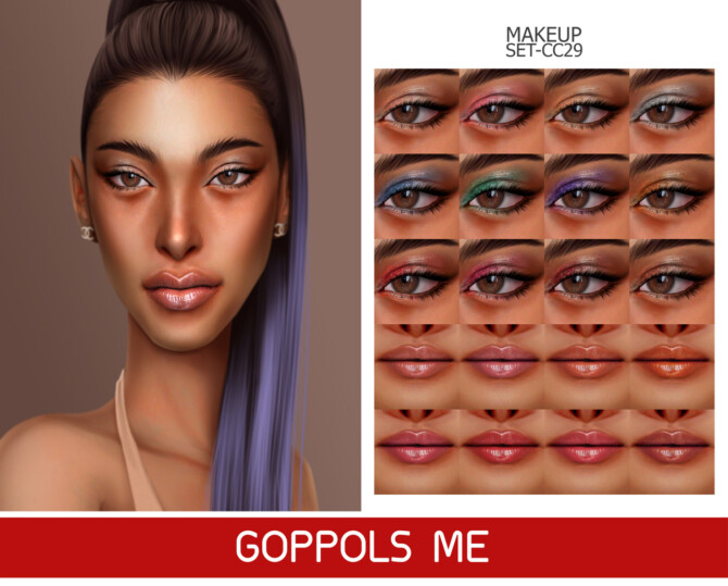 Sims 4 GPME GOLD MAKEUP SET CC29 at GOPPOLS Me