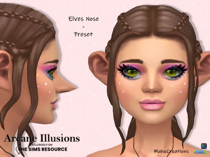 Sims 4 Arcane Illusions   Nose Preset Elves by MahoCreations at TSR
