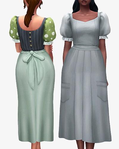 Sims 4 Mushroom Maksy Dress at Nolan Sims