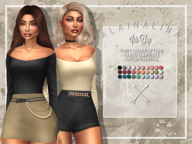 Sims 4 Iris Bodysuit at AlainaLina