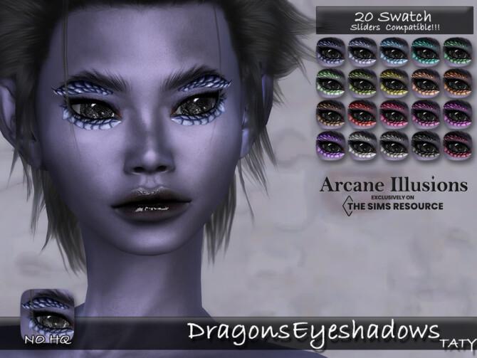 Sims 4 Arcane Illusions Dragons Eyeshadow by tatygagg at TSR