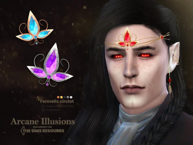 Sims 4 Arcane Illusions   Fennelis circlet by sugar owl at TSR