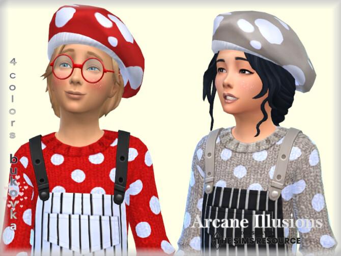 Sims 4 Arcane Illusions   Mushroom Hat child by bukovka at TSR