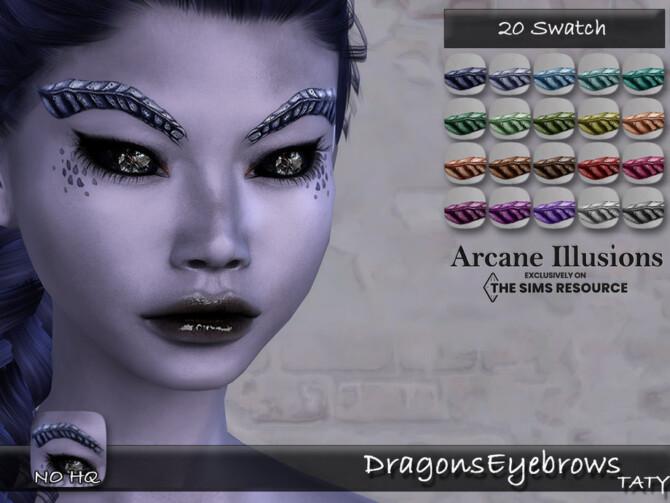 Sims 4 Arcane Illusions Dragons Eyebrows by tatygagg at TSR