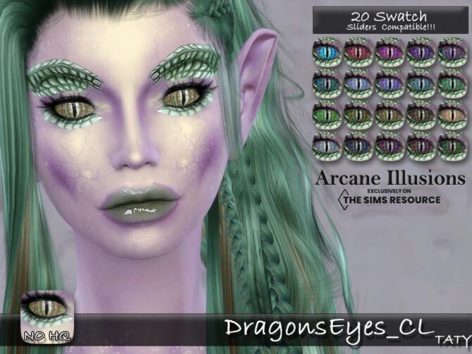 Sims 4 Arcane Illusions Dragons Eyes by tatygagg at TSR