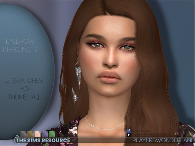 Sims 4 Eyebrow Piercing R by PlayersWonderland at TSR
