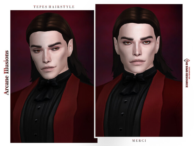 Sims 4 Arcane Illusions Tepes Hairstyle by  Merci  at TSR