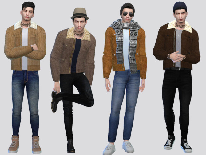 Sims 4 Butch Corduroy Jacket by McLayneSims at TSR