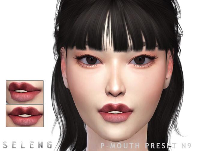 Sims 4 P Mouth Preset N9 by Seleng at TSR