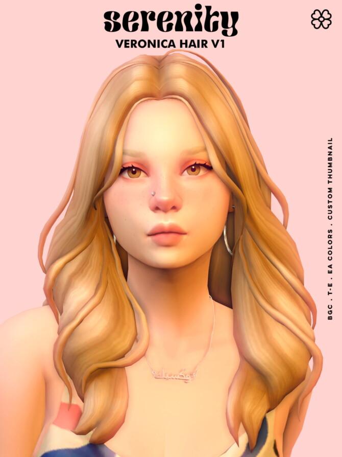 Sims 4 Veronica Hair at SERENITY