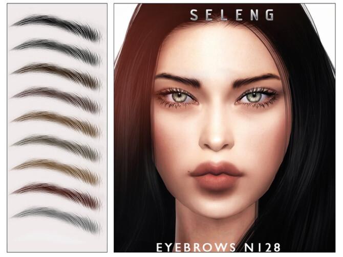 Sims 4 Eyebrows N128 by Seleng at TSR