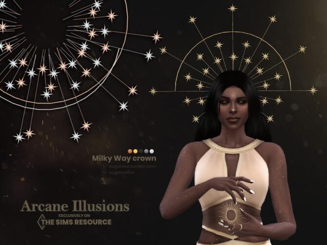 Sims 4 Arcane Illusions | Milky Way crown by sugar owl at TSR