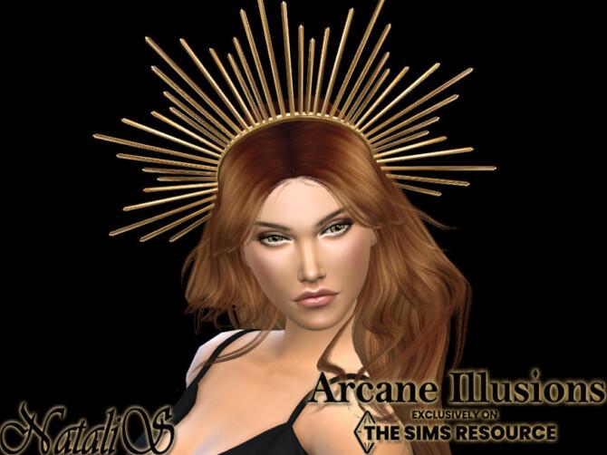 Sims 4 Arcane Illusions Sun halo crown by NataliS at TSR