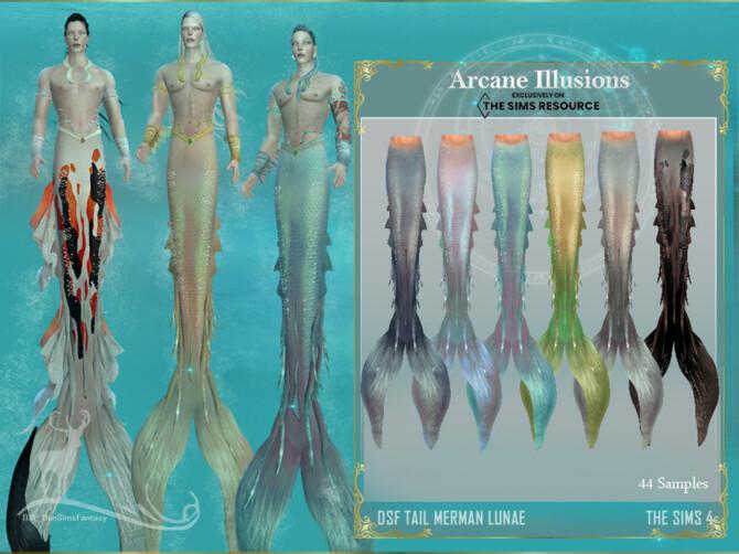 Sims 4 Arcane Illusions   Tail Merman Lunae by DanSimsFantasy at TSR