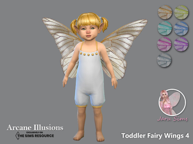 Sims 4 Arcane Illusions   Toddler Fairy Wings 4 by Jaru Sims at TSR