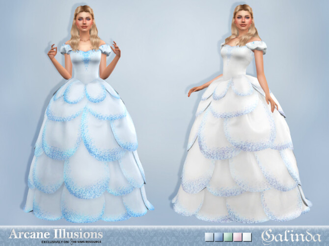 Sims 4 Arcane Illusions   Galinda Gown by Sifix at TSR