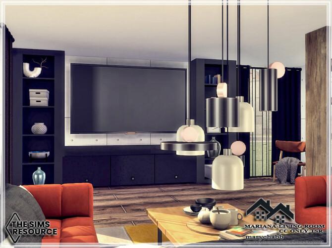 Sims 4 Mariana Living Room by marychabb at TSR