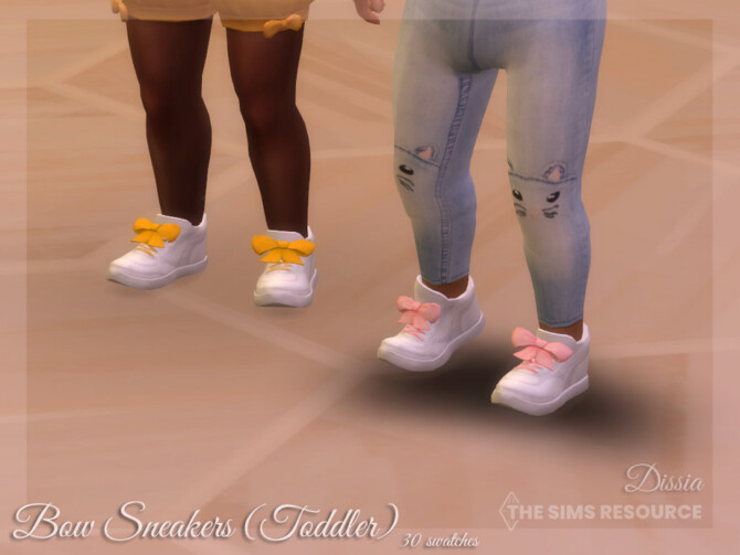 Sims 4 Bow Sneakers Toddler by Dissia at TSR