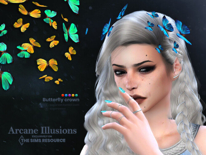 Sims 4 Arcane Illusions   Butterfly crown by sugar owl at TSR
