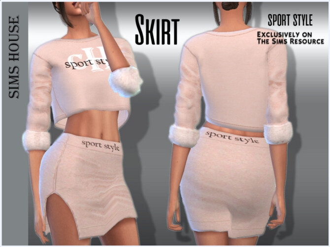 Sims 4 Skirt sport style by Sims House at TSR