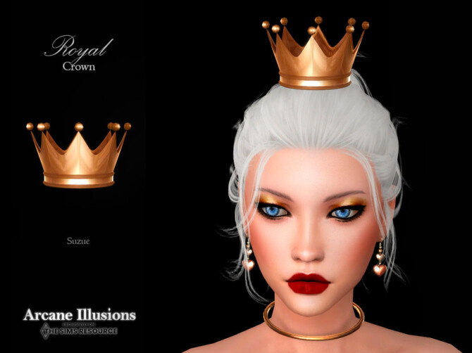 Sims 4 Arcane Illusions Royal Crown by Suzue at TSR