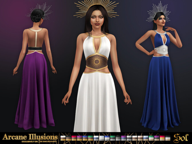 Sims 4 Arcane Illusions   Sol Dress by Sifix at TSR