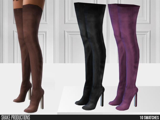 Sims 4 765   High Heel Boots by ShakeProductions at TSR