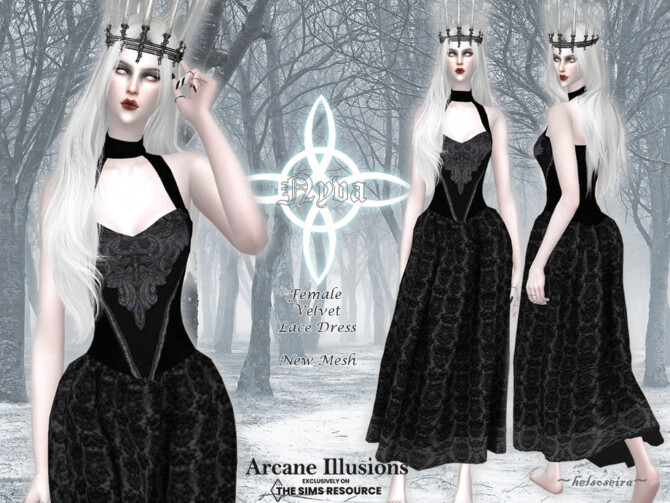 Sims 4 Arcane Illusions   NYVA   Long Dress by Helsoseira at TSR