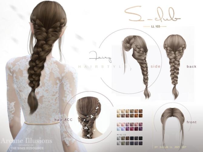 Sims 4 Arcane illusion Braid Long elf hairstyle by S Club at TSR