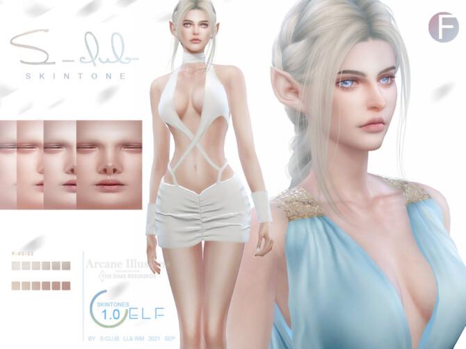 Sims 4 Arcane illusion Elf skintones by S Club at TSR