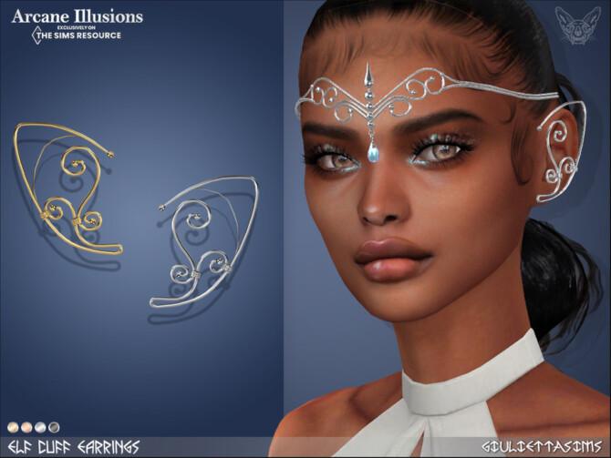 Sims 4 Arcane Illusions   Elf Ears Cuff by feyona at TSR