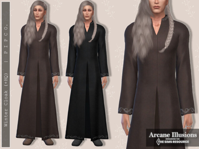Sims 4 Arcane Illusions   Winter Cloak by Pipco at TSR
