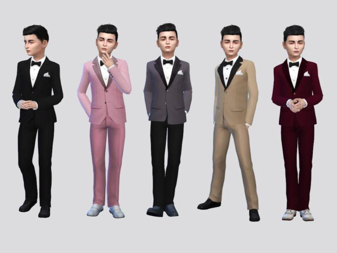 Sims 4 Francesco Tuxedo Suit by McLayneSims at TSR
