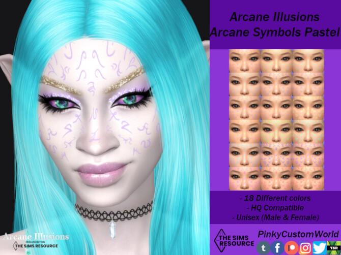 Sims 4 Arcane Illusions   Arcane Symbols Pastel by PinkyCustomWorld at TSR