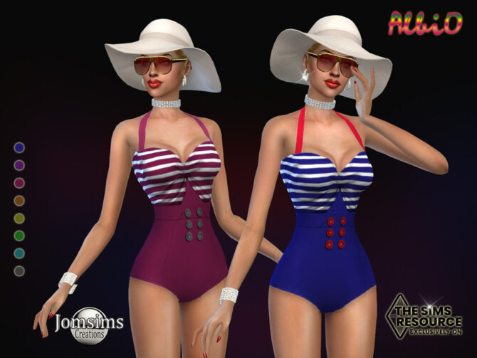Sims 4 Albio swimsuit by jomsims at TSR