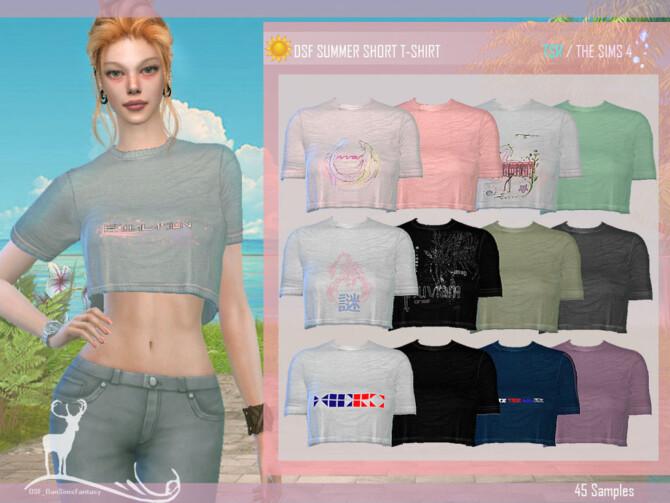 Sims 4 Summer Short T shirt by DanSimsFantasy at TSR