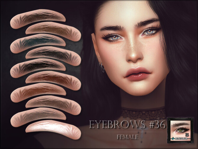 Sims 4 Eyebrows 36 female by RemusSirion at TSR