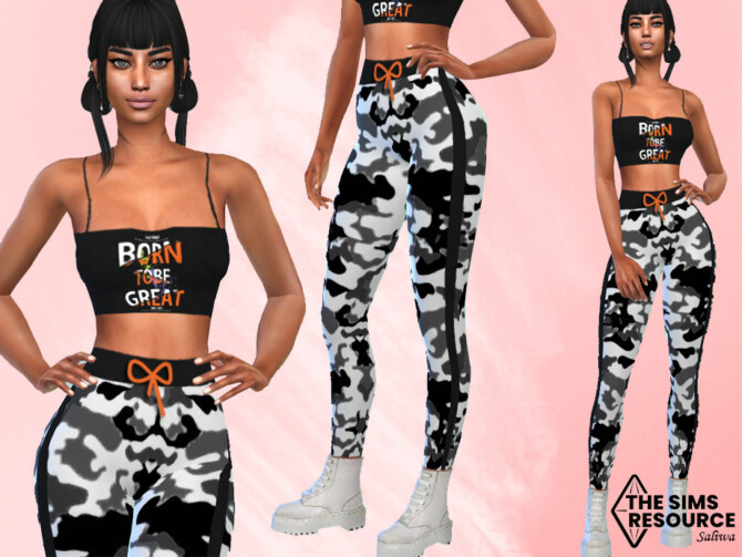 Sims 4 Athletic and Casual Full Sport Outfit by Saliwa at TSR