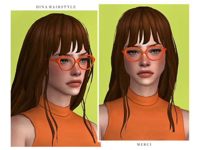 Sims 4 Dina Hairstyle by Merci at TSR