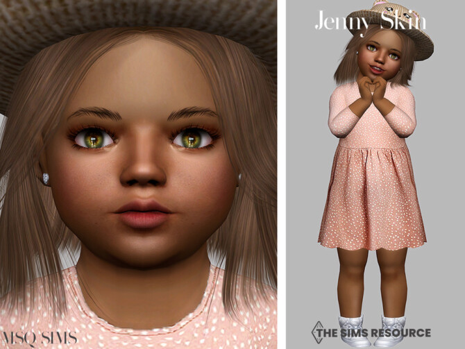 Sims 4 Jenny Skin Toddler by MSQSIMS at TSR