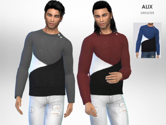 Sims 4 Alix Sweater by Puresim at TSR