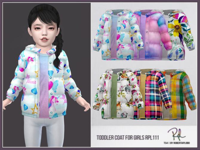 Sims 4 Toddler Coat for Girls by RobertaPLobo at TSR