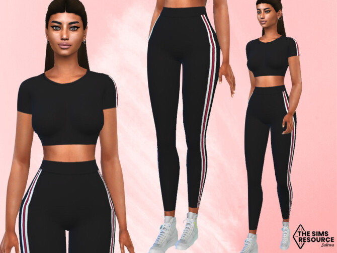 Sims 4 Athletic and Casual FullBody Outfit by Saliwa at TSR