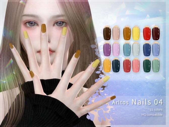 Sims 4 Two color nails (rings) by Arltos at TSR