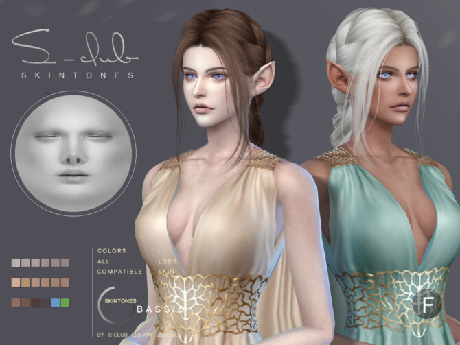 Sims 4 Natural skintone overlay for female sims by S Club LL&WM at TSR