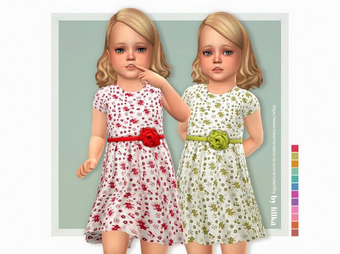 Sims 4 Cassandra Dress by lillka at TSR