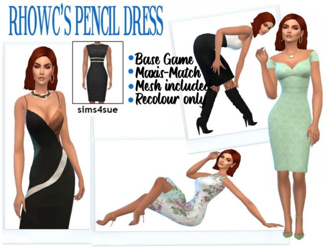 Sims 4 RHOWC'S PENCIL DRESS at Sims4Sue